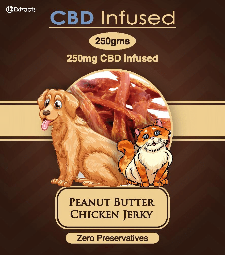 13 Extracts CBD Infused Peanut Butter Chicken Jerky