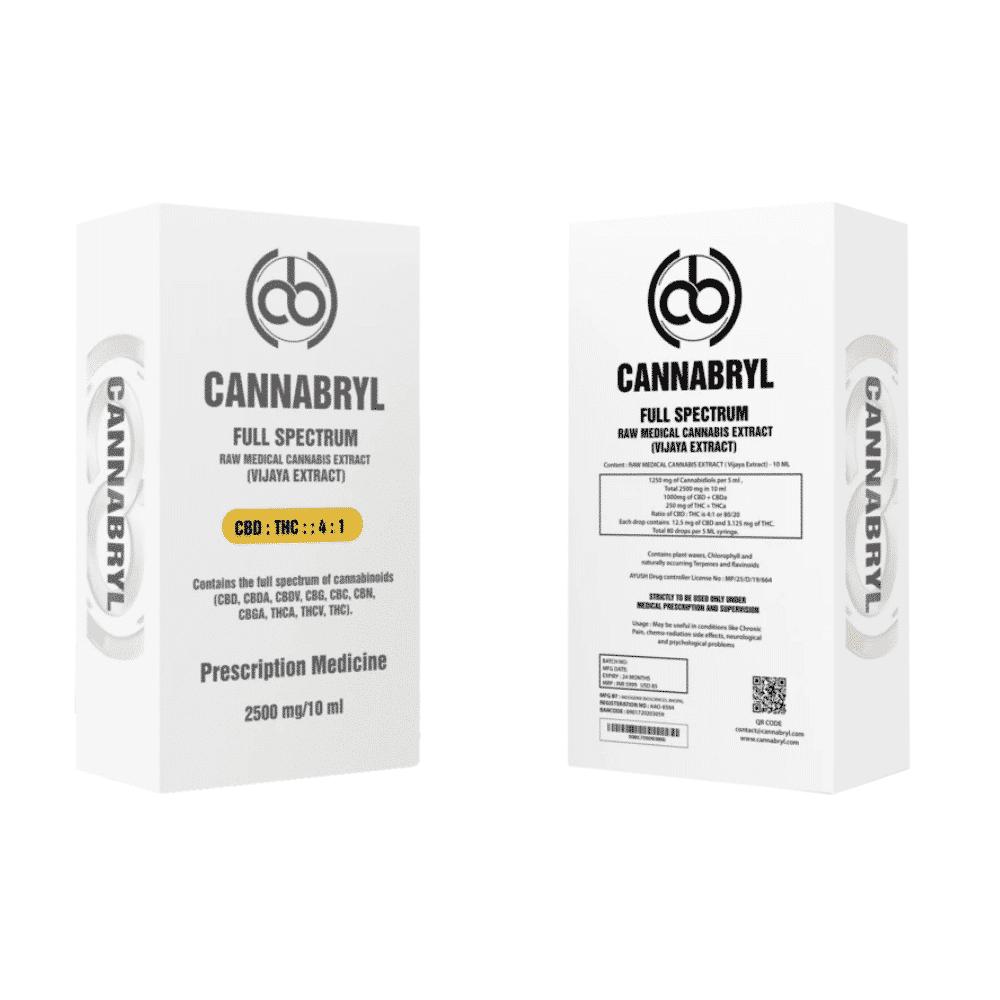 Cannabryl 2500 mg Raw Extract 4:1 10ml