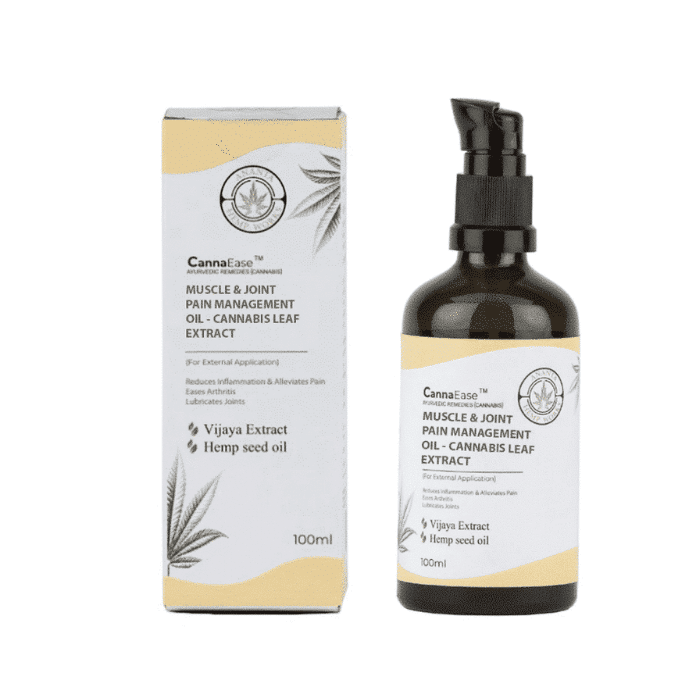Cannaease Muscle & Joint Pain Management Oil - Cannabis Leaf Extract 100 ml