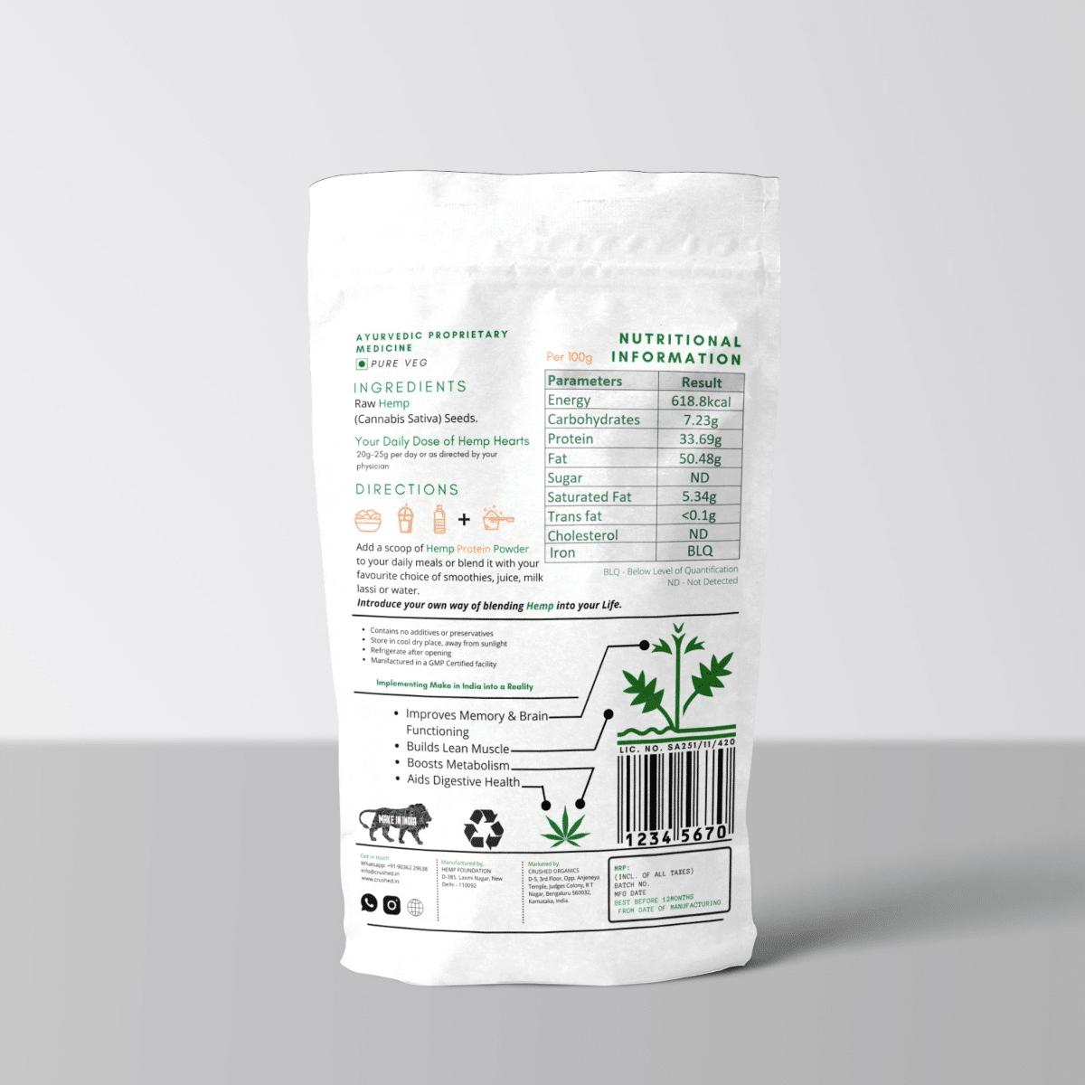 Crushed Organics Hemp Protein Powder