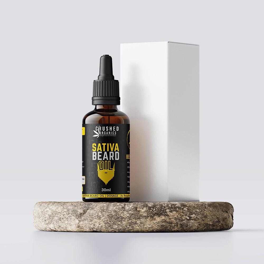 Crushed Organics Sativa Beard Oil