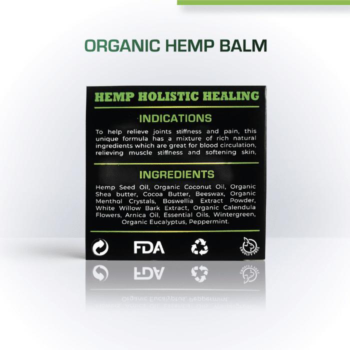 Cure By Design Organic Hemp Balm 2000 mg CBD