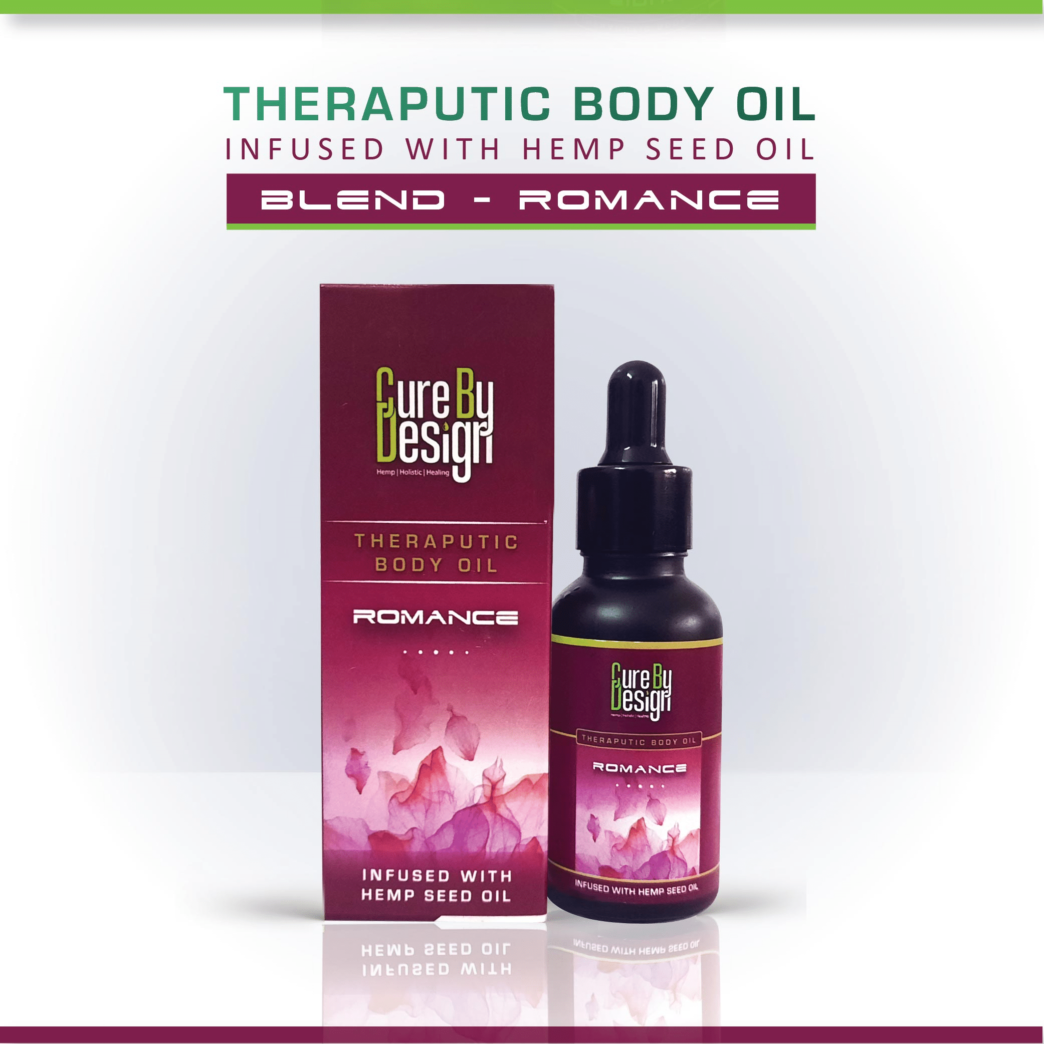 Cure By Design Therapeutic Body Oil for Romance