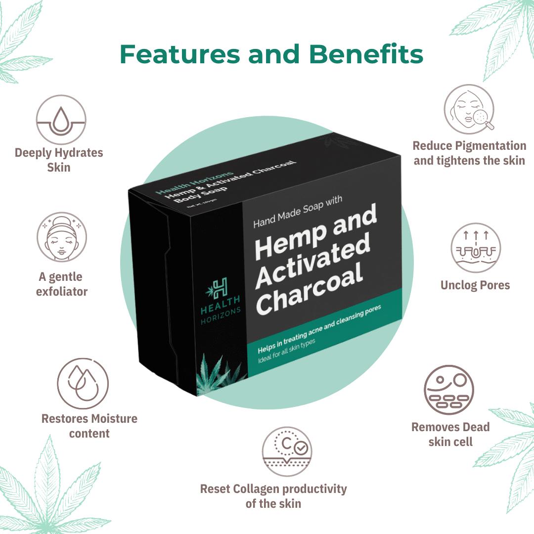 Health Horizons Charcoal and Hemp Soap