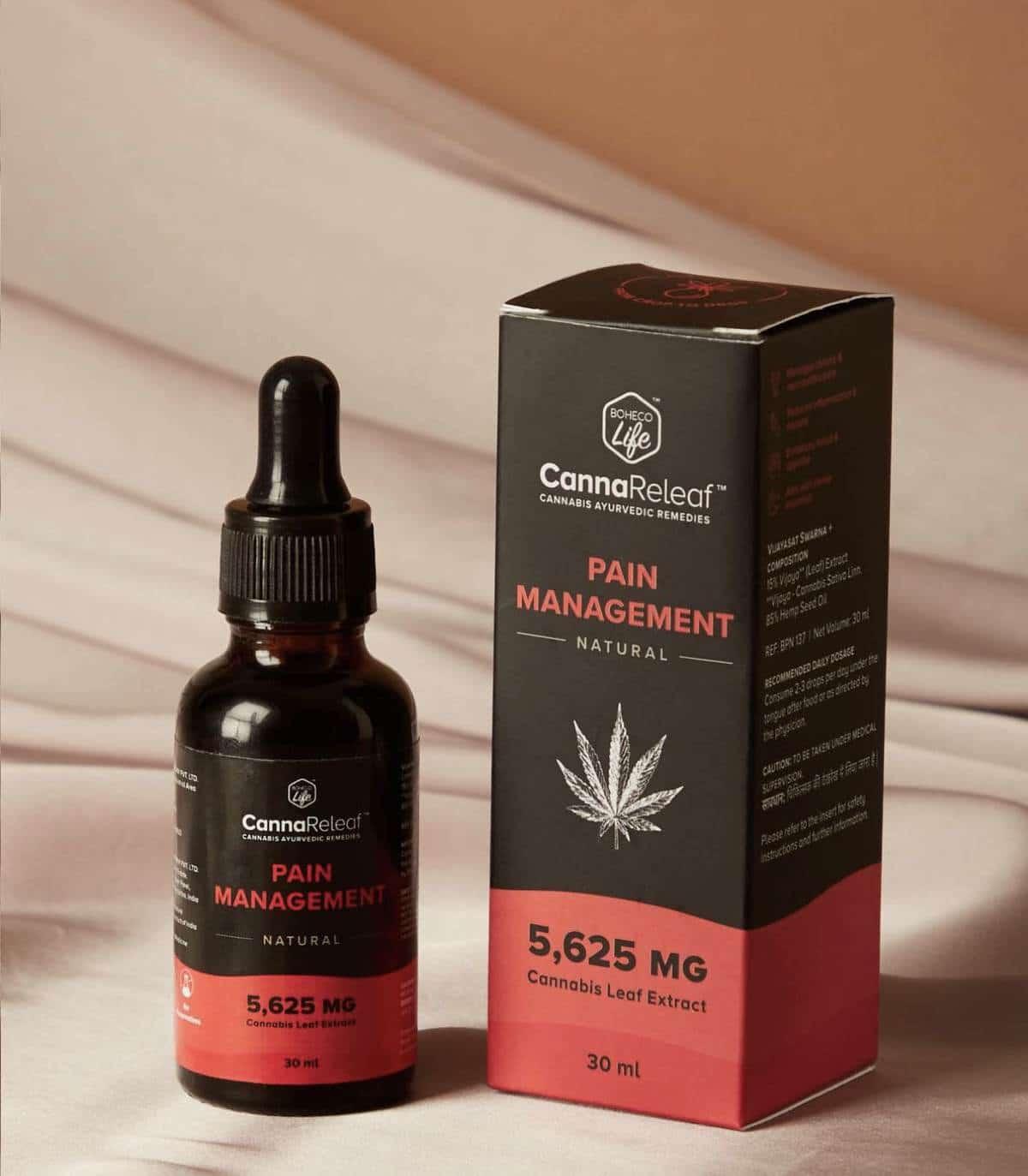 CannaReleaf Pain Management Cannabis Leaf Extract 5625mg – 30ml