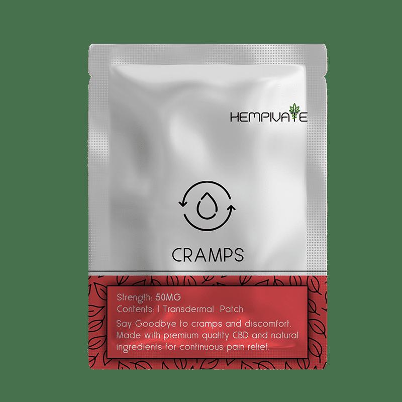 Hempivate CBD Transdermal Patch - Cramps